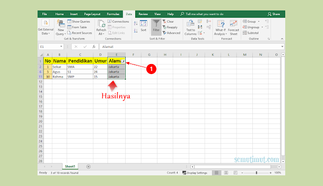Cara Mengelompokkan Data di Excel Otomatis