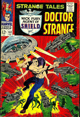 Strange Tales v1 #153 nick fury shield comic book cover art by Jim Steranko