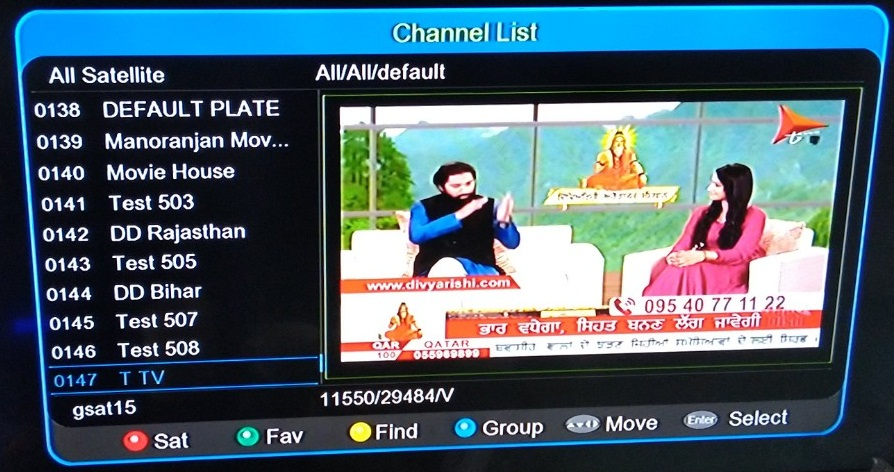 T TV Punjabi Language channel added on DD Free Dish at