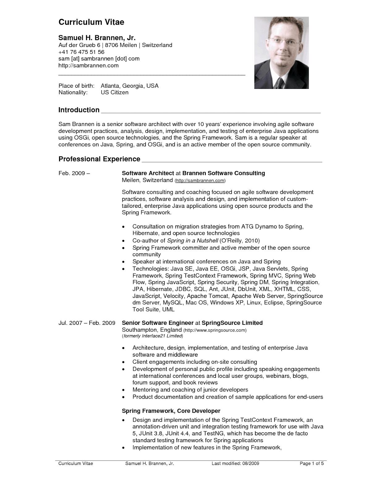american cv pdf