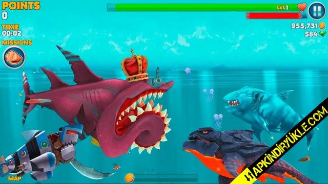 hungry shark evolution hileli apk indir