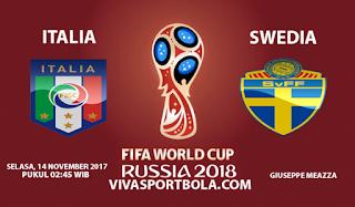 Prediksi Italia vs Swedia 14 November 2017