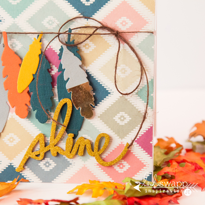 Minc foiled dipped feathers by @createoften for @heidiswapp
