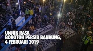Protes Penundaan Persib vs Persiwa, Bobotoh Gelar Aksi Unjuk Rasa