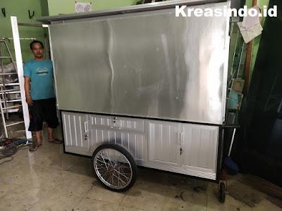 Gerobak Aluminium Martabak pesanan Bpk Arfian di Cinere Depok