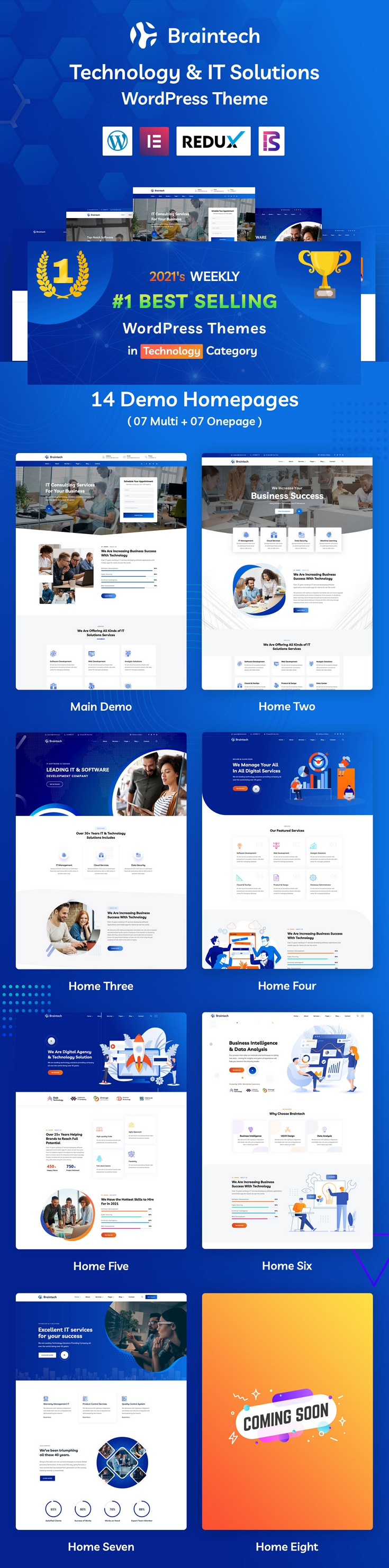 Technology and IT Solutions Premium WordPress Theme