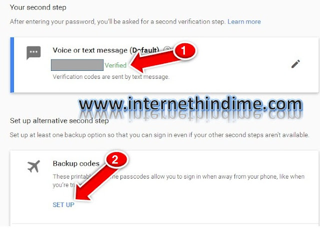 Enable 2 Step Verification Gmail