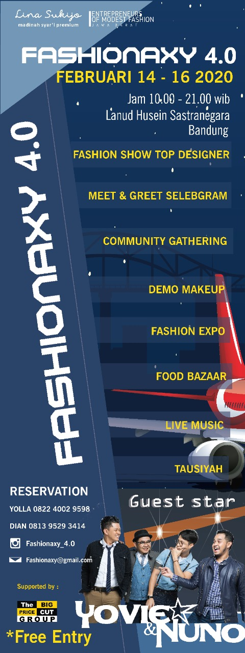 Fashionaxy 4.0 Aerospace Prosperity, Fashion Show Dengan Latar Belakang Pesawat