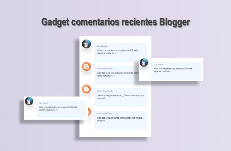 Cómo agregar un widget de comentarios recientes en Blogger