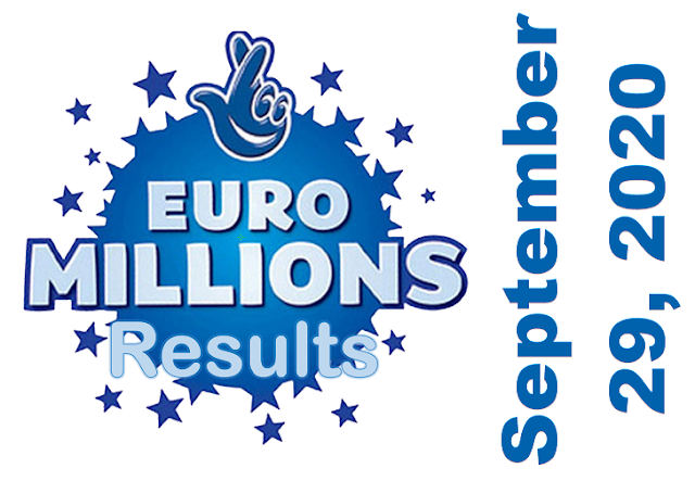 EuroMillions Results for Tuesday, September 29, 2020