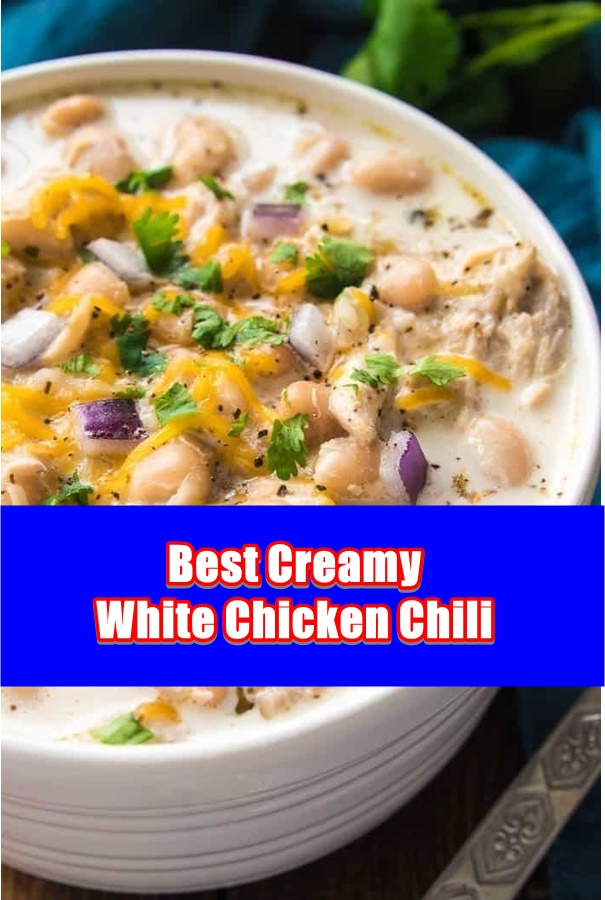 #Creamy #White #Chicken #Chili