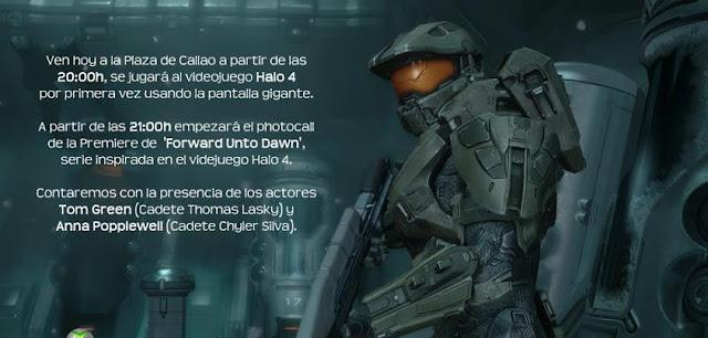 Estreno del videojuego Halo 4 en Madrid