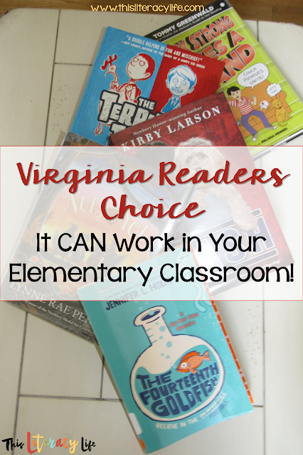 Virginia Readers Choice books offer so much opportunity for students to learn. Find ways you can make all students want to read each one!