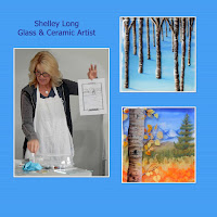 Shelley and her amazing three-dimensional glass paintings