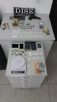 Traficantes de drogas que agiam em Eldorado foram presos em flagrante pela Dise Jacupiranga