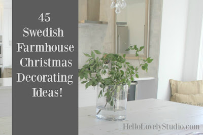 image result for Swedish Farmhouse Christmas decorating ideas