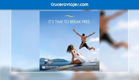 """Norwegian Cruise Line lanza """"Break Free"""", su primera campaña global que invita a """"liberarse"""" del 2020 y soñar a lo grande"""