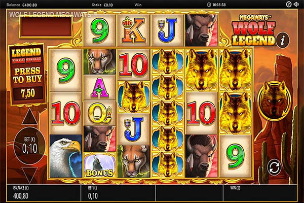 Main Gratis Slot Indonesia - Wolf Legend Megaways (Blueprint Gaming)