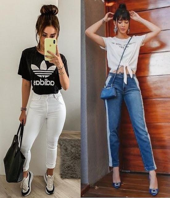 Agatha Braga, Gabriela Sales (Rica de marré), Looks estilosos com calça jeans