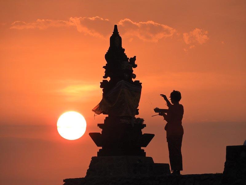 Sunset in Senggigi Beach West Lombok