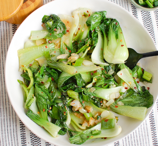 10 Minute Garlic Bok Choy #vegan #easy