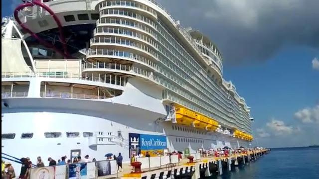 El crucero más grande del mundo, llega a Cozumel