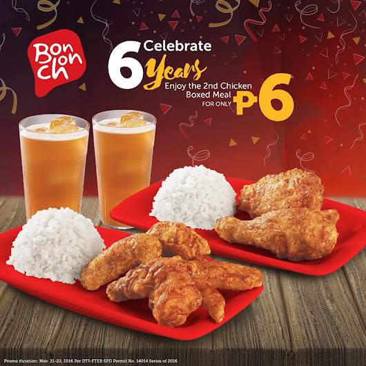 BonChon Chicken Boxed Meal for Php 6?!