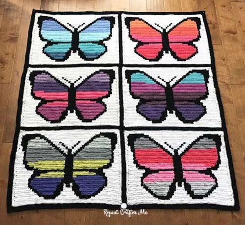 Bernat pop! Butterfly Crochet Graphgan