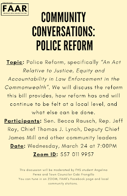 Community Conversation on Police Reform - March 24, 2021