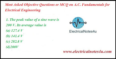 MCQ on A.C. Fundamentals for Electrical Engineering
