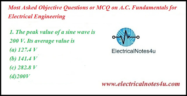 MCQ on AC Fundamentals for Electrical Engineering