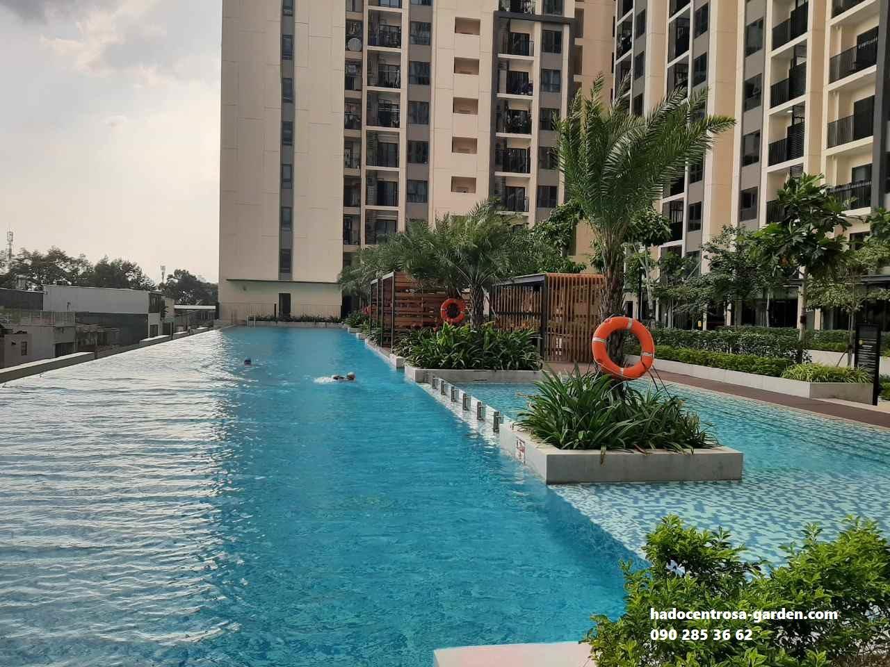 Hồ bơi tràn chung cư hà đô centrosa
