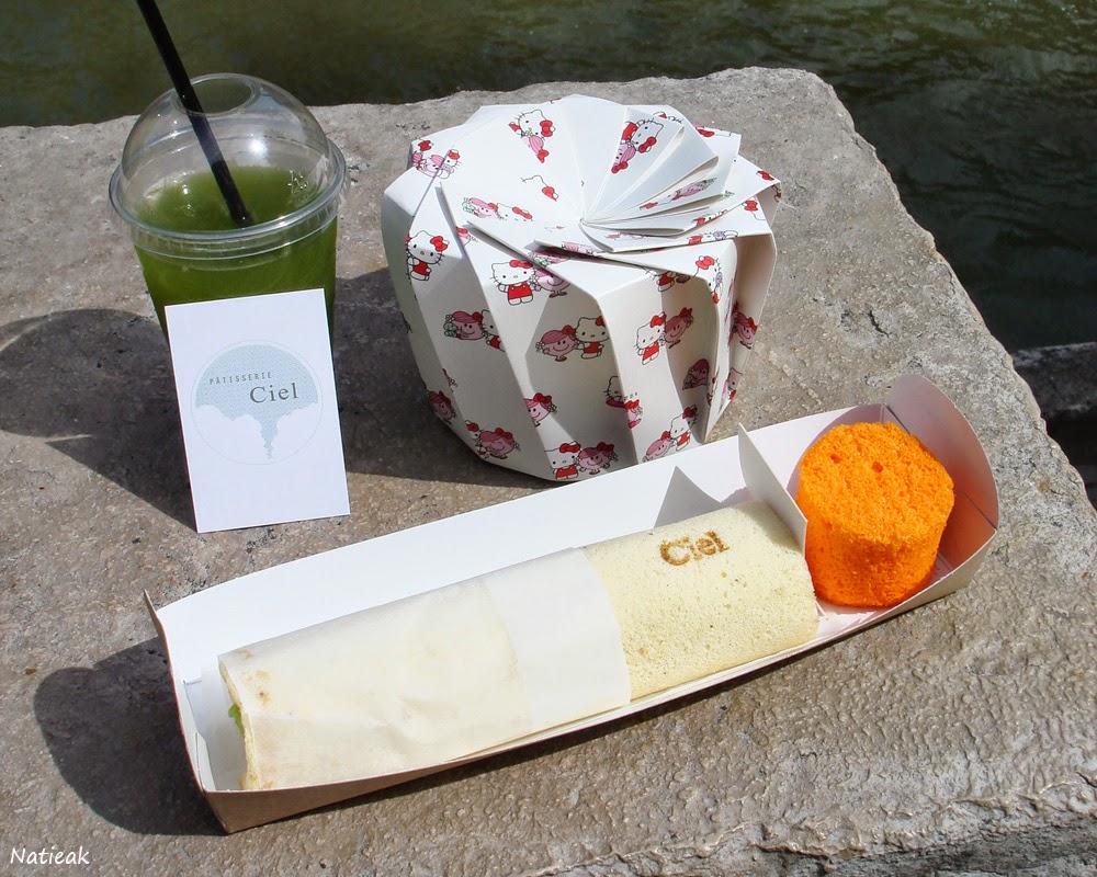 Pâtisserie Ciel sandwich et angel cake