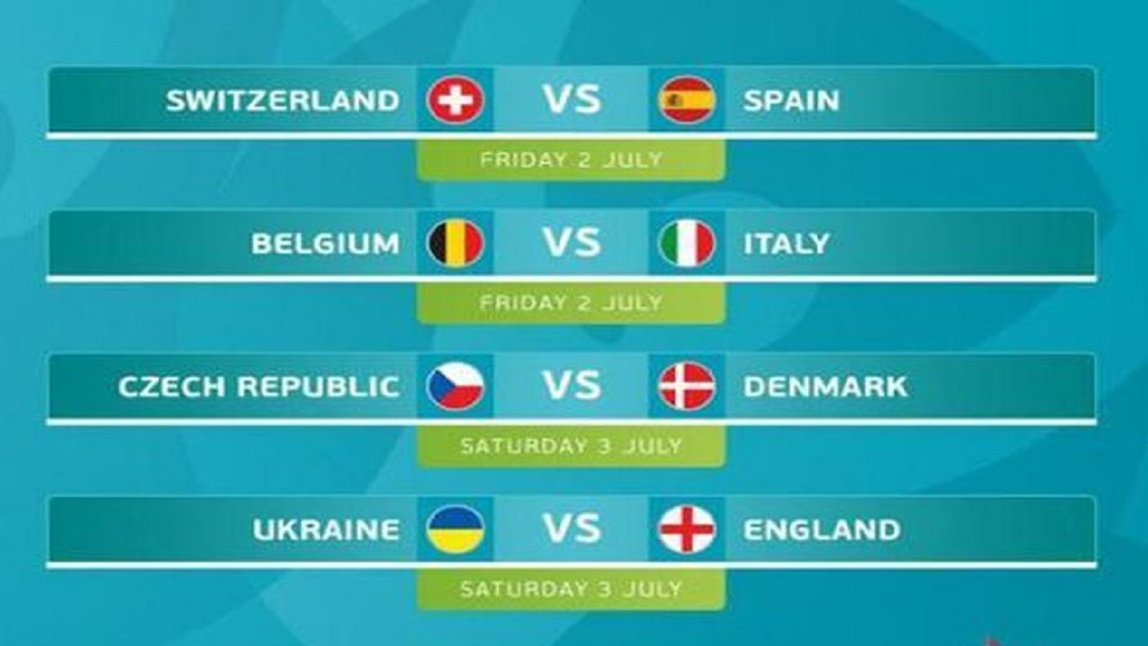 Jadwal Piala Eropa dan Hasil Euro 2020, Italia VS Belgia dan Spanyol VS Swiss