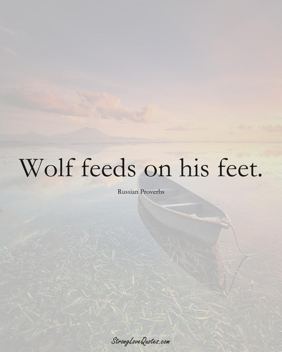 Wolf feeds on his feet. (Russian Sayings);  #AsianSayings
