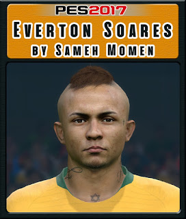 PES 2017 Faces Everton Soares by Sameh Momen