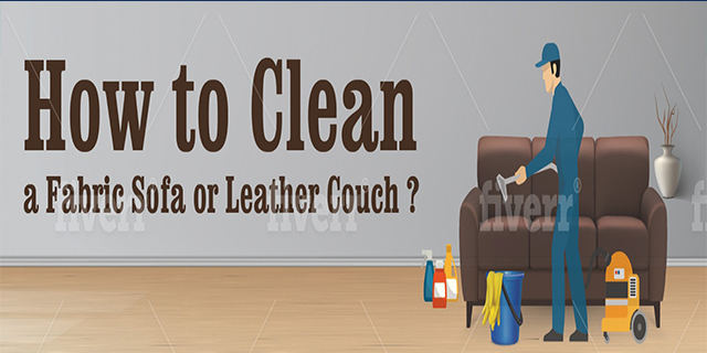 How to Clean a Fabric Sofa or Leather Couch