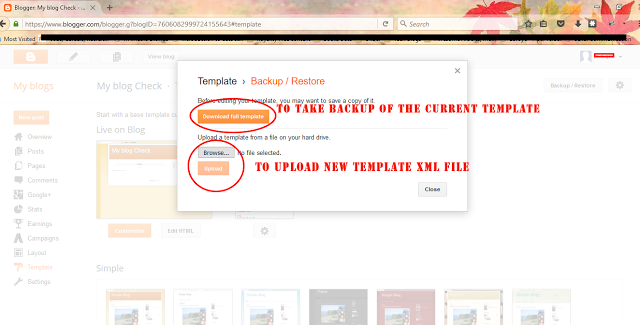 Backup of Blog on Blogger - Dots Created