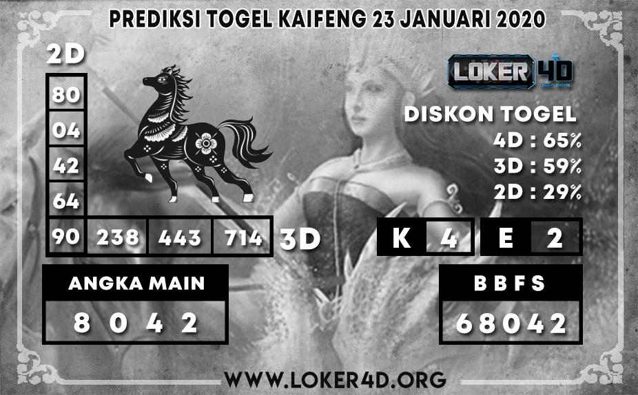 PREDIKSI TOGEL KAIFENG LOKER4D 23 JANUARI 2020