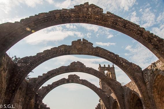 Ruinas de Santa Mariña en Cambados. Galicia