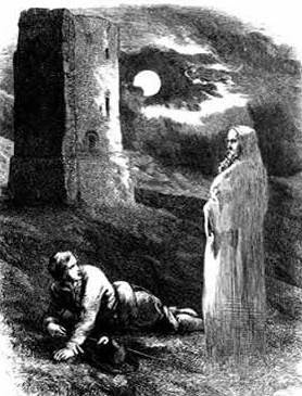 Illustration from The Lancashire Witches (1848), folk horror novels