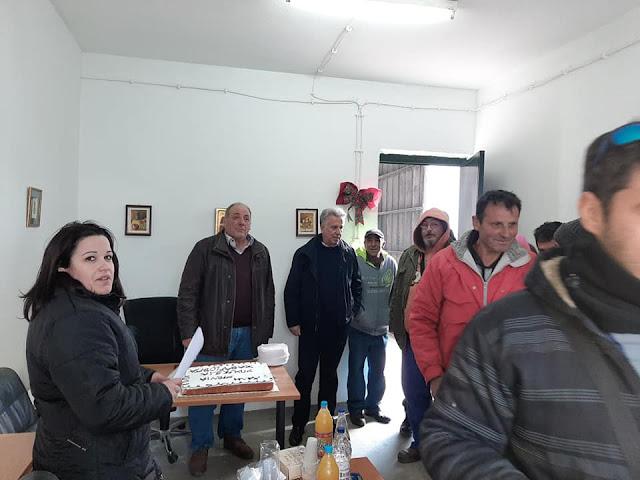 Την Πρωτοχρονιάτικη πίτα τους έκοψαν οι εργαζόμενοι στην καθαριότητα του Δήμου Ερμιονίδας