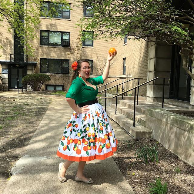 pinup girl clothing oranges jenny