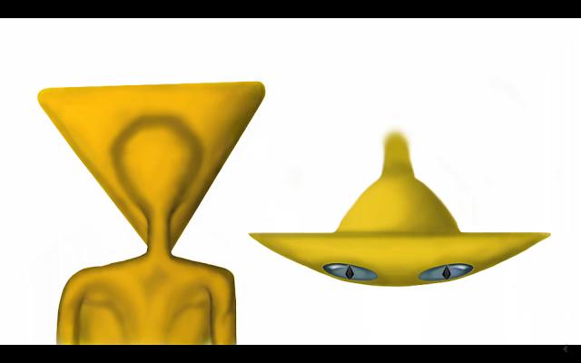 三角頭存有的藝術描繪