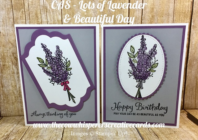 Card, Clean and Simply, Lots of Lavender, Beautiful Day