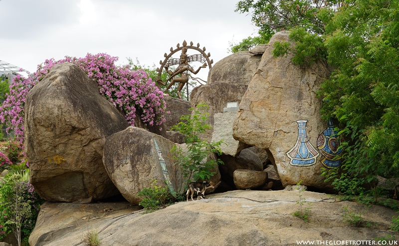 Rock gardens at Shilparamam