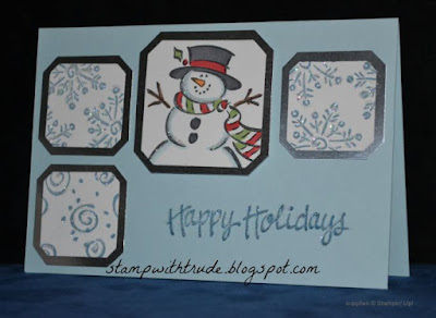 Throwback Thursday, Stampin' Up!, Trude Thoman, Stamp with Trude, Frosty, Christmas card,