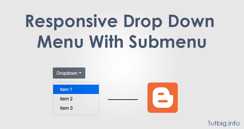 Responsive Drop Down Menu With Submenu