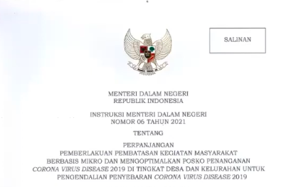 Mendagri Keluarkan Instruksi Mengenai Pelaksanaan PPKM Mikro di 15 Provinsi