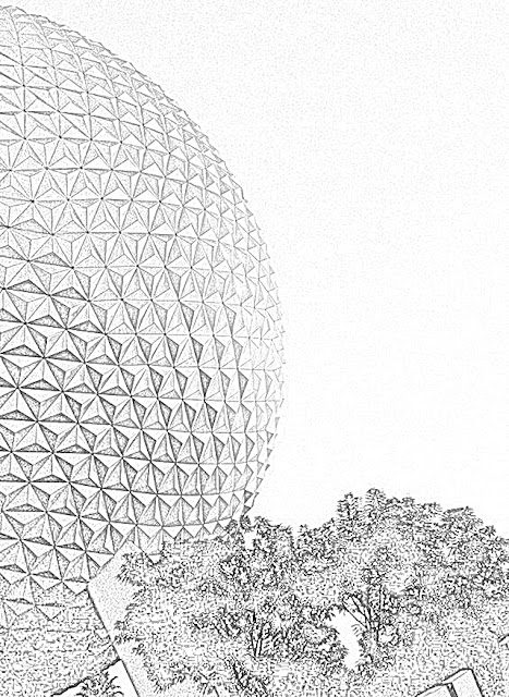 Epcot Walt Disney World coloring.filminspector.com